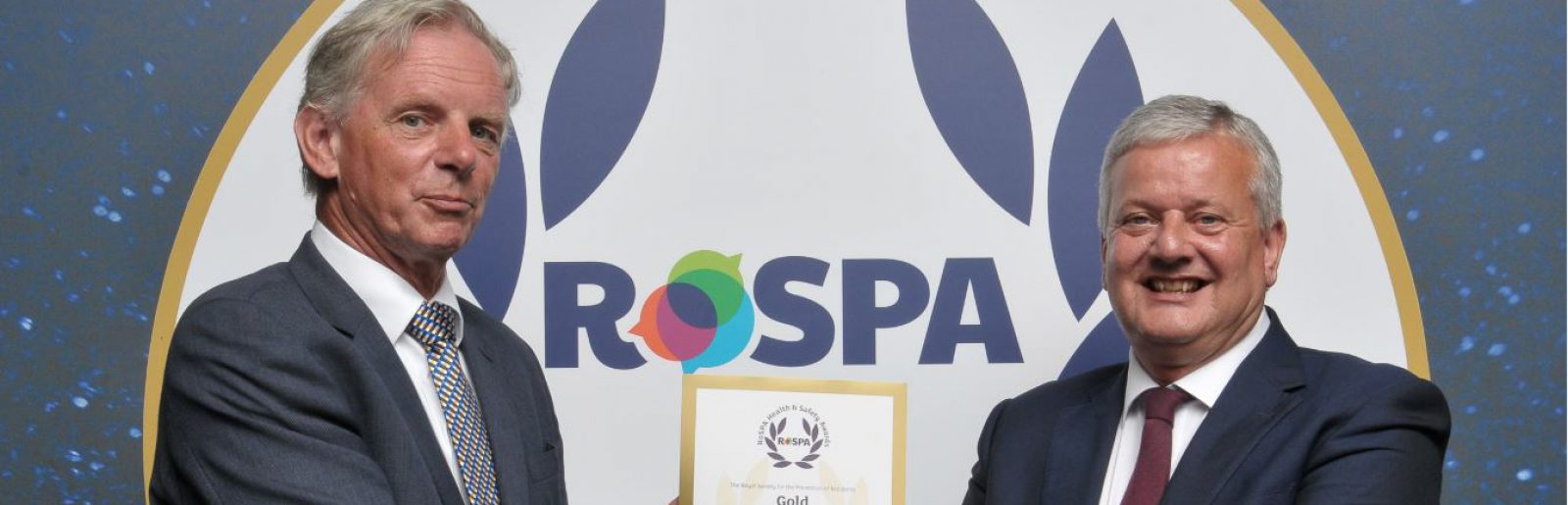Awarded RoSPA <br /> Gold in Fleet Safety - Clancy Docwra