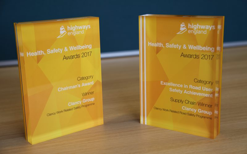 H&S Winners at Highways England Awards 2017 - Clancy Docwra