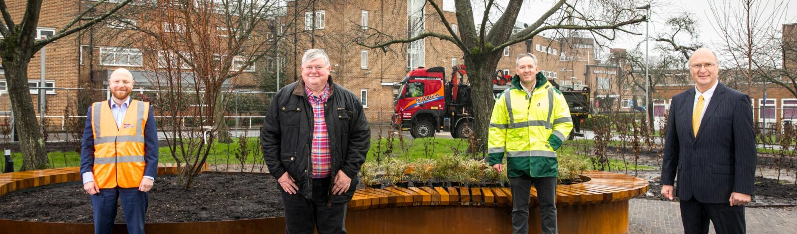 Helping break ground on a healing garden for Harefield Hospital - Clancy